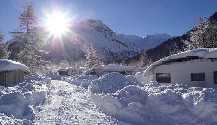 Die schönsten Campingplätze im Winter