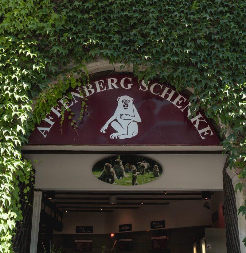 Eingang zum Shop Affenberg Schenke