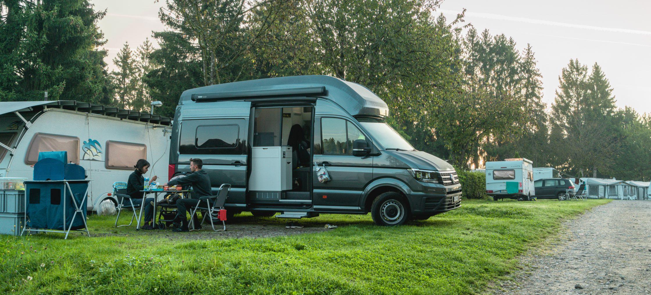 Bodensee Gitzenweiler Parzelle mit Camper