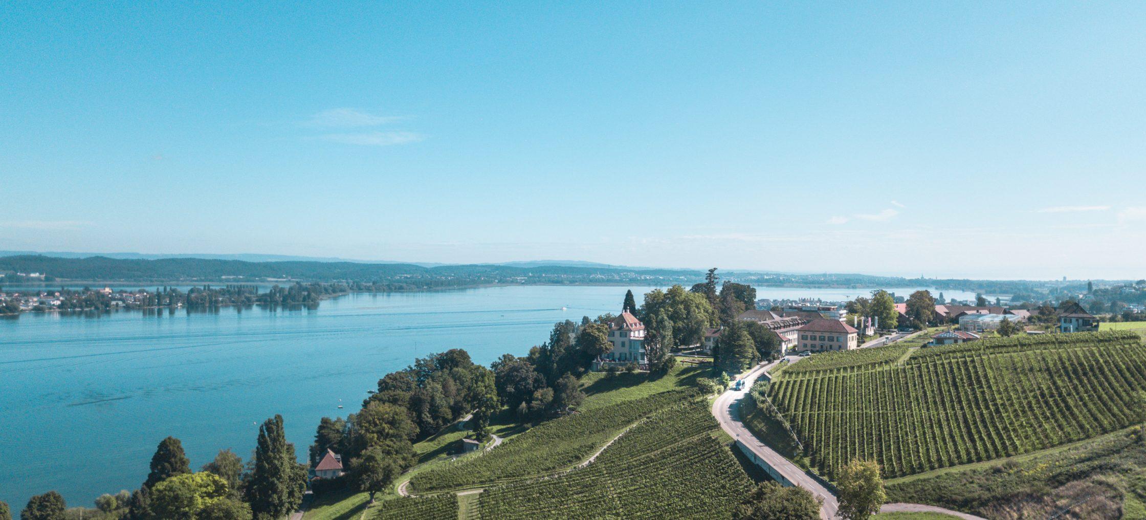 Aussicht auf den Bodensee vom Museum Arenenberg