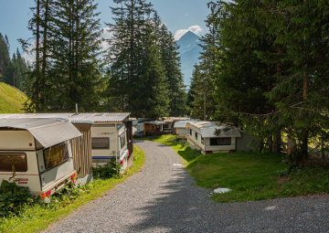 campingplatz arosa schweiz Dauerstellplatz ausblick 1