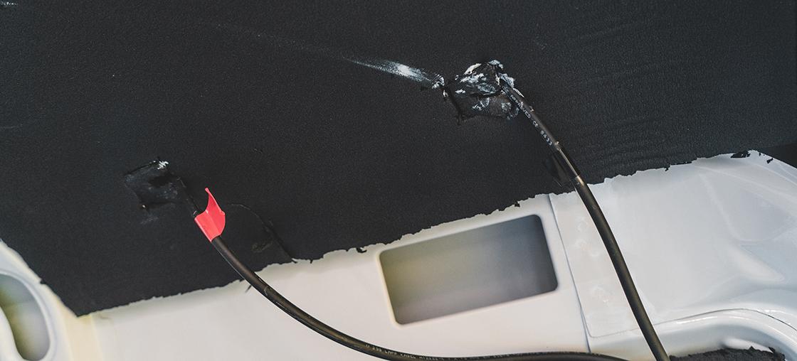 kabel einziehen minus plus solar anlage