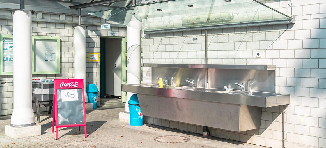 sanitaere anlagen campingplatz waschbecken
