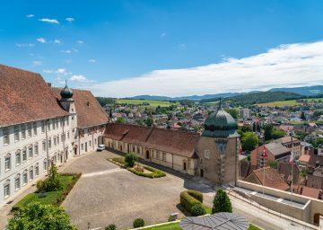 Sehenswürdigkeiten Jura, Innenhof vom Schloss Porrentruy