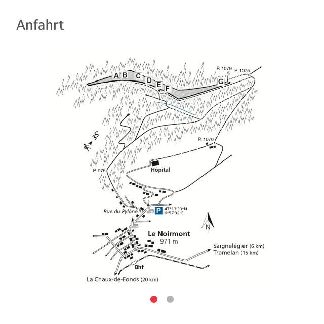 Route Kletterwand les Sommêtres - Ferien im Jura