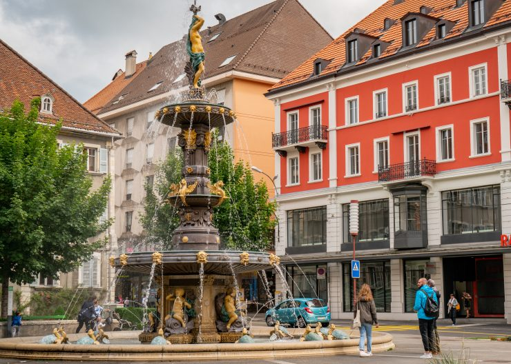 Brunnen la Chaux de Fonds - Kanton Jura - Sehenswürdigkeiten
