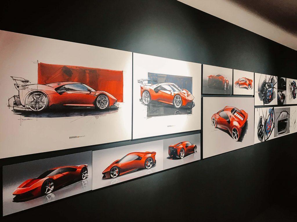 Rundreise Toskana, Zeichnungen von Ferraris