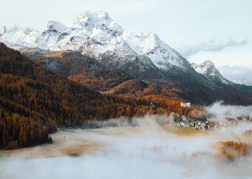 roadtrip dolomiten nebel engadin