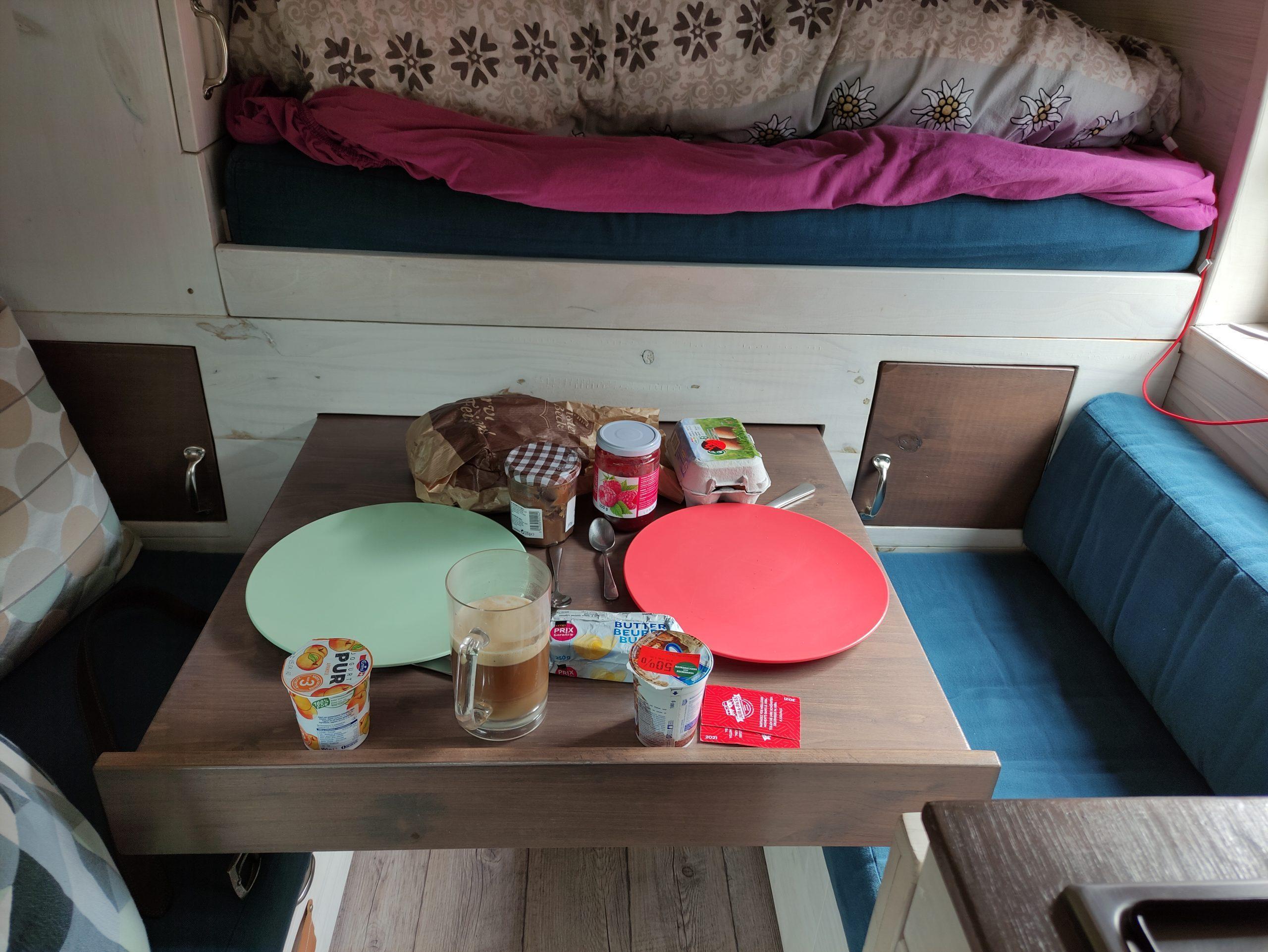 camping jura fazit gus kuche tisch