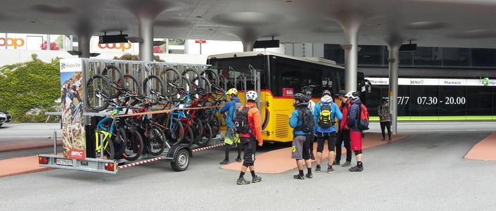 campingplatz mountainbike visp biketransport